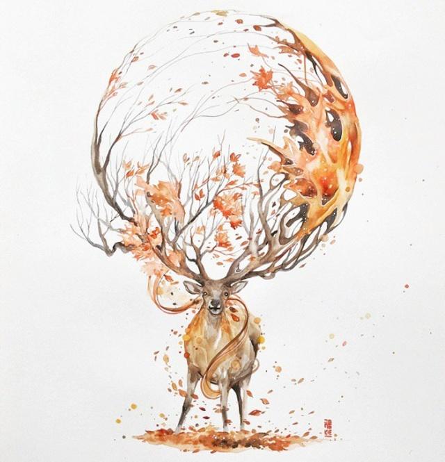 Beautiful-Watercolor-Animal-Illustrations-by-Luqman-Reza-Mulyono-07
