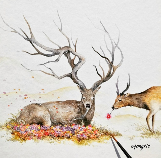 Watercolor-Lead-Me-To-Make-An-Expressive-And-Whimsical-Animal-Illustration18__700